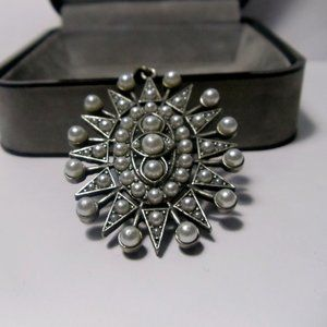 Pendant and Bail Silver with Pearls